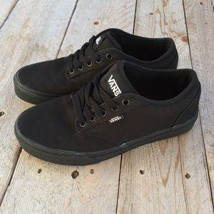 Vans Black Canvas Sneakers